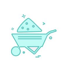 Labour trolly icon design vector