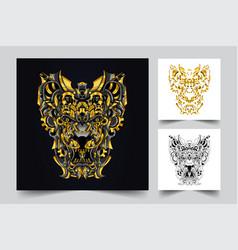 Lion ornamental artwork vector