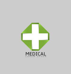 medical cross logo vector image