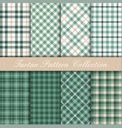 mint green tartan collection vector image
