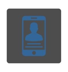Mobile Account Icon vector