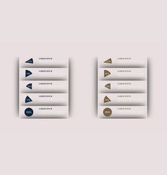 modern strips infographics different options vector image