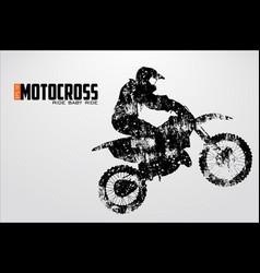 Motocross drivers silhouette vector