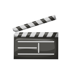 movie clapper with stripes film industry vector image