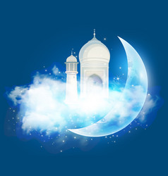 Muslim feast holy month ramadan vector