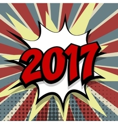 New year 2017 colored background vector image