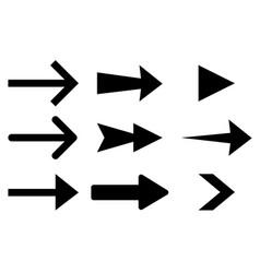 next arrows flat black signs vector image