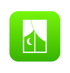 nightly window icon digital green vector image