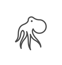 octopus line outline modern icon vector image