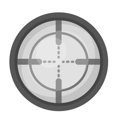 Optical sightpaintball single icon in monochrome vector
