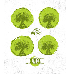 organic raw olive oil creative design vector image