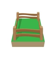 Paddock cartoon icon vector