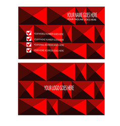 Piramid style business card design vector