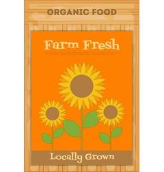 poster sunflower vector image