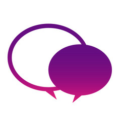 purple round chat bubbles icon vector image