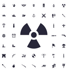 Radioation icon vector