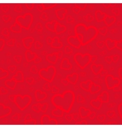 Red seamless pattern with hearts background vector