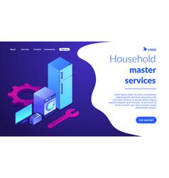 Repair household appliances concept isometric vector