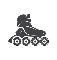 roller skate logo emblem badge roller logo for vector image