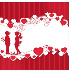 Romantic story vector image