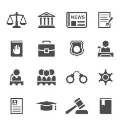 Set law and justice icons vector