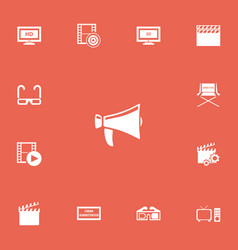 Set of 13 editable filming icons includes symbols vector