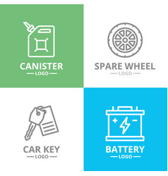 set of car service and auto repair logo or vector image