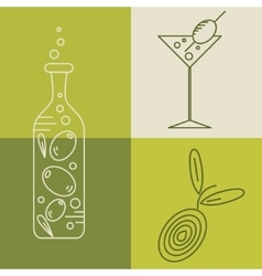 Set of olive oil logos vector image