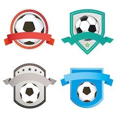 set soccer football and logo emblem designs vector image