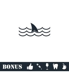 Shark icon flat vector image