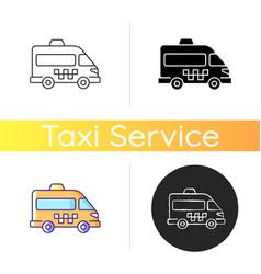 Shuttle buses icon vector