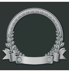 silver round frame vector image