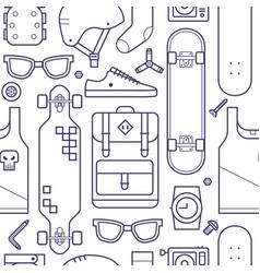 Skateboard pattern background vector