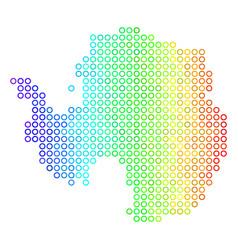 Spectral sphere dot antarctica map vector