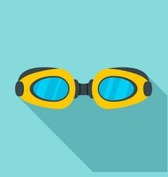 Swim glasses icon flat style vector