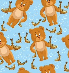 Teddy bear pattern vector image