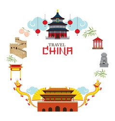 Travel China Frame vector