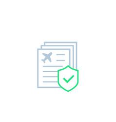 travel insurance icon vector image
