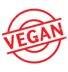 Vegan rubber stamp vector