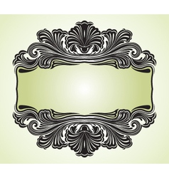 victorian scroll floral vector image