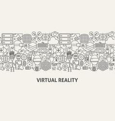 Virtual reality banner concept vector