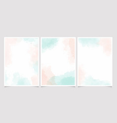 watercolor light green and old rose pink splash vector image