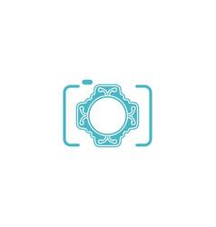 wedding camera photography logo designs vector image