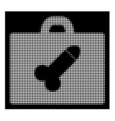 White halftone dildo toolbox icon vector