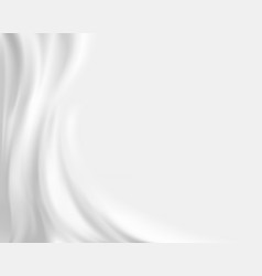 White silk fabric textile background of tissue vector
