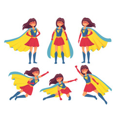 Woman superhero character wonder girl in vector