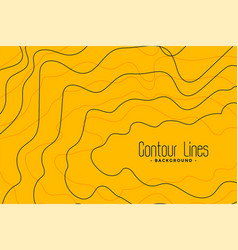 Yellow background with black contour lines vector
