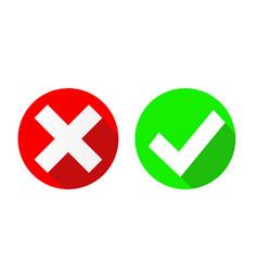 yes and no check marks on circles stock vector image