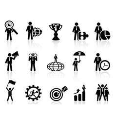 Business metaphor icons set vector