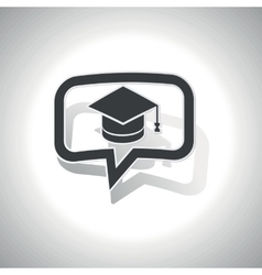 Curved graduation message icon vector image